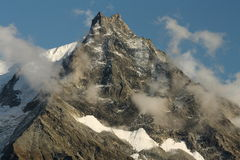 Lo Besso peak in Swiss Alps Royalty Free Stock Images