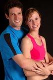 Lo-key Fitness Couple Royalty Free Stock Photo