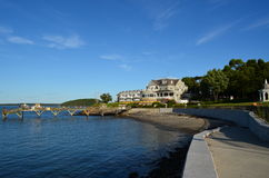 A lo largo de la costa Foto de archivo libre de regalías