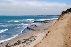 Costa de California en primavera con el océano Imagen de archivo