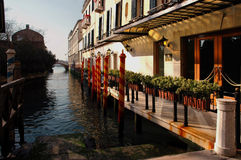 A lo largo de las calles de Venecia Fotografía de archivo