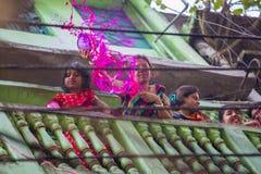 A lo largo de los años se ha convertido en el centro más popular para las festividades religiosas hindúes y no--Hindus Imagenes de archivo