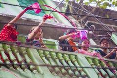 A lo largo de los años se ha convertido en el centro más popular para las festividades religiosas hindúes y no--Hindus Foto de archivo libre de regalías