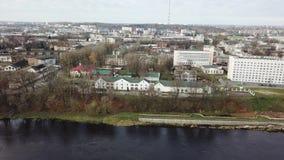 A lo largo del Dvina occidental Ciudad Vitebsk almacen de metraje de vídeo