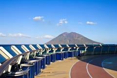 A lo largo del volcán de Stromboli Foto de archivo libre de regalías