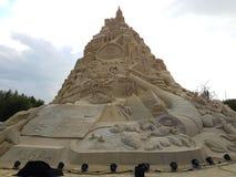 Lo más arriba posible en mundo el castillo de arena 16,68 mide en 2017 Fotografía de archivo