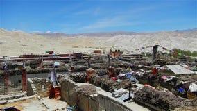 Lo Mantang ? a capital do reino do mustang video estoque