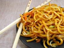 lo mein蔬菜 免版税库存图片