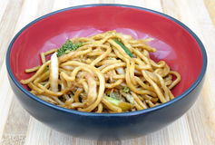 Lo mein. Chinese food in bowl Royalty Free Stock Photos