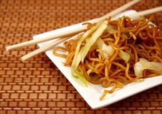 lo mein noodles Στοκ Φωτογραφίες
