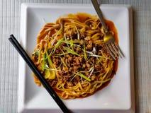 Lo Mein Noodles royalty free stock photos