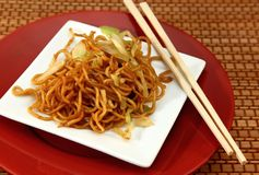 Lo mein noodles III Royalty Free Stock Photography