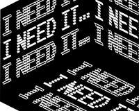 Lo necesito inscripción Cita inspirada, motivaci?n Tipograf?a para la camiseta, invitaci?n, impresi?n de la camiseta de la tarjet stock de ilustración