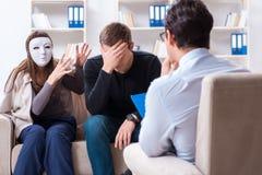 Lo psicologo di visita della famiglia per il problema della famiglia Immagine Stock Libera da Diritti