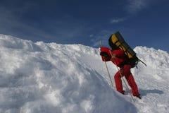 Lo ragazza-scalatore Fotografie Stock