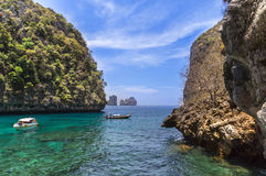Lo sama bay blue lagoon at phi phi island, krabi Thailand Stock Photo