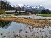 Lo sbarco di Mont Blanc Fotografia Stock Libera da Diritti