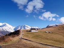 Lo sbarco di Mont-Blanc, alpi francesi Immagine Stock Libera da Diritti