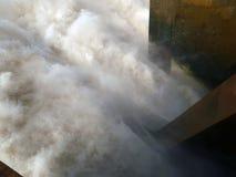 Lo sbocco della centrale idroelettrica di Merowe Immagini Stock Libere da Diritti