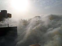 Lo sbocco della centrale idroelettrica di Merowe Immagine Stock Libera da Diritti