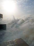 Lo sbocco della centrale idroelettrica di Merowe Fotografie Stock