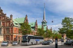 Lo scambio del fondo antico - Copenhaghen immagini stock