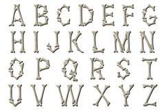 Lo scheletro dell'alfabeto di Digital disossa l'elemento di Scrapbooking di stile Immagini Stock Libere da Diritti