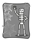 Lo scheletro divertente dice il guidacarta illustrazione vettoriale