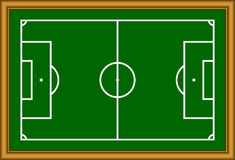 Lo schema del campo di calcio. Immagini Stock