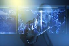 Lo schermo virtuale funziona Immagini Stock