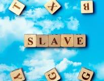Lo schiavo di parola immagini stock
