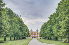 Lo Schloss favorito in Ludwigsburg, Germania fotografia stock