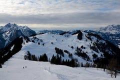 Lo sci pende Wagrain e Alpendorf vicini Fotografia Stock