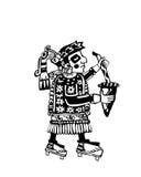 Lo sciamano della tribù fa il rituale Fotografie Stock