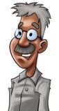 Lo scienziato anziano ed astuto illustrazione di stock