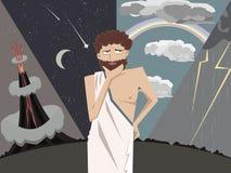 Lo scienziato del greco antico che ritiene ai fenomeni natral vector la c Fotografia Stock