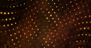 Lo scintillio digitale di Natale scintilla il movimento dorato di scorrimento del bokeh delle particelle sul fondo dell'oro, buon illustrazione di stock