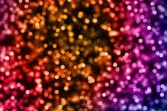 Lo scintillio digitale di Natale scintilla il multi flo del bokeh delle particelle di colore Fotografia Stock