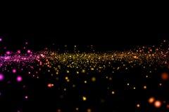 Lo scintillio digitale di Natale scintilla il multi flo del bokeh delle particelle di colore illustrazione vettoriale