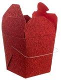 Lo scintillio rosso elimina il contenitore di regalo Fotografia Stock Libera da Diritti
