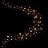 Lo scintillio Stars la curva Fotografia Stock Libera da Diritti