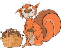 Personaggio dei cartoni animati dello scoiattolo che tiene una