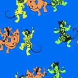 Lo scoiattolo, topo, vombato, ha tatuato il dancing con i maracas illustrazione di stock