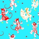 Lo scoiattolo, topo, vombato, ha tatuato il dancing con i maracas royalty illustrazione gratis