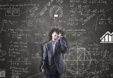Lo scolaro sta ritenendo Fotografia Stock