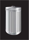 Lo scomparto di rifiuti di alluminio o può Fotografia Stock