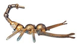 Lo scorpione fatto a mano dall'automobile e dal motociclo parte, sistema di rilevamento immagini stock