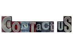 Lo scritto tipografico se li mette in contatto con immagini stock libere da diritti
