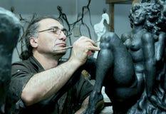 Lo scultore Fotografia Stock Libera da Diritti