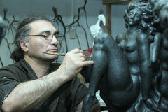 Lo scultore fotografie stock libere da diritti